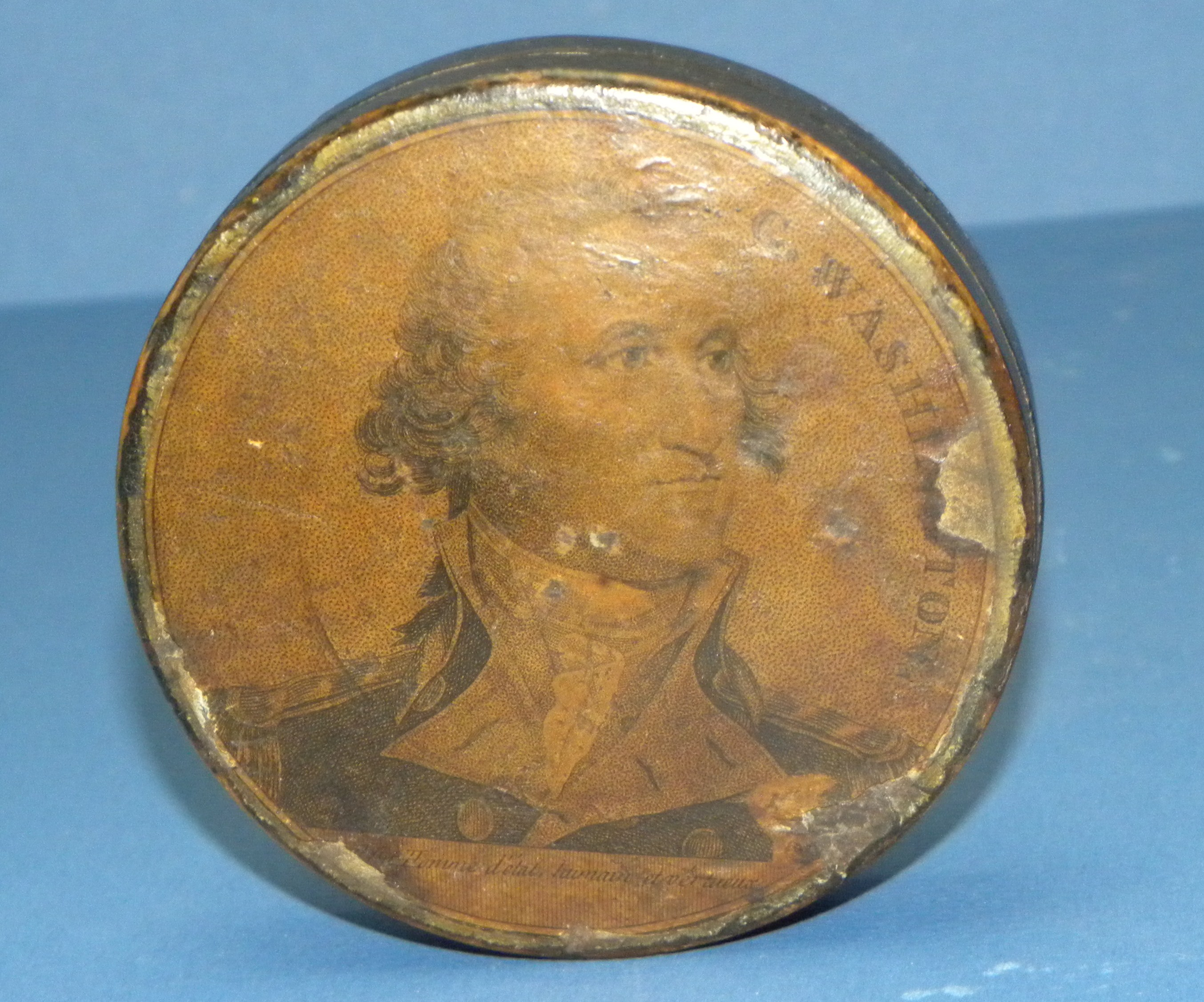 GEORGE WASHINGTON SNUFF BOX